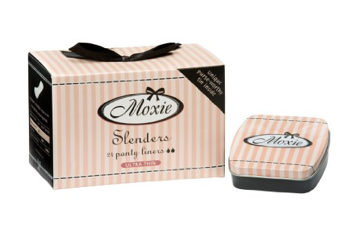 Moxie Slenders liners - for use during periods - with a purse-worthy tin (Pack of 4)
