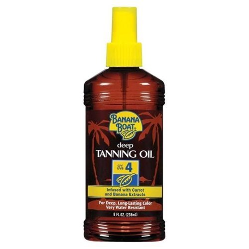 Banana Boat Dark Tanning Oil Spray SPF 4 Sunscreen, 8 oz
