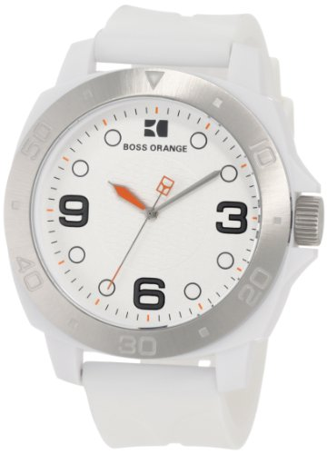 BOSS ORANGE White Rubber Unisex Watch 1512663