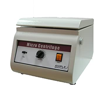 Ample Scientific MH-120-110V Bench-Top Centrifuge, 0-15mins Mechanical Timer, 12000rpm Speed, Hematocrit Rotor