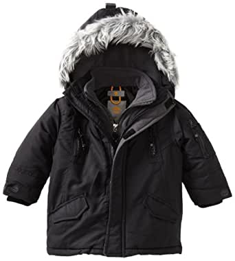 Timberland Little Boys' Snorkle Jacket, Black, 2T