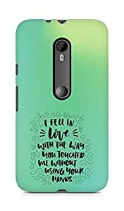 Amez I fell in Love with You Back Cover For Motorola Moto G3