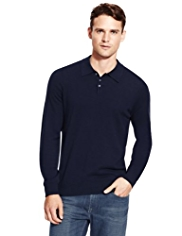 XS Autograph Pure Merino Wool Polo Collar Jumper