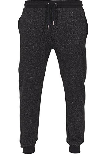 Urban Classics - FITTED MELANGE Sweatpants charcoal - S