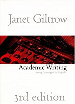 "Cover of ""Academic Writing: Writing and R..."