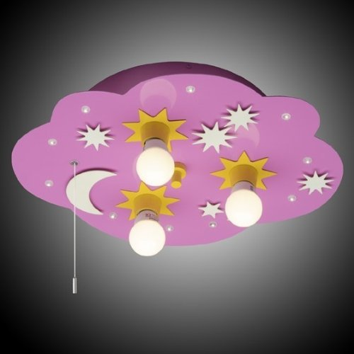 Cloud LED Schlummerlicht Wolkenleuchte pink 3er Brilliant 93898/17