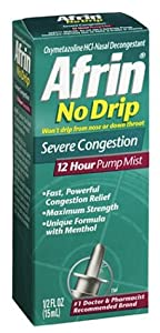 Afrin No Drip 12-Hour Pump Mist, Severe Congestion, 0.5-Ounce Pumps (Pack of 3)