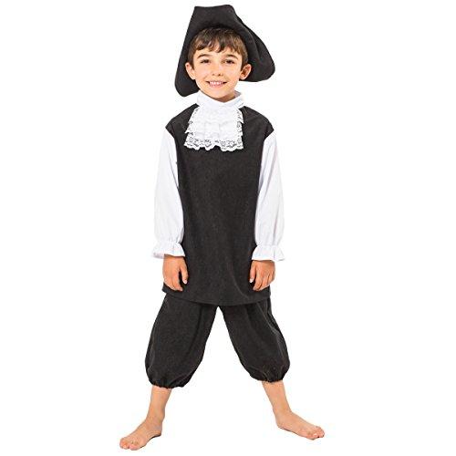 Pilgrim Costume For Kids 6-8 Years