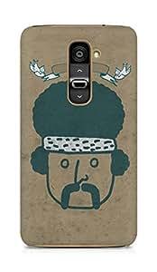 Amez designer printed 3d premium high quality back case cover for LG G2 (Vintage Man)