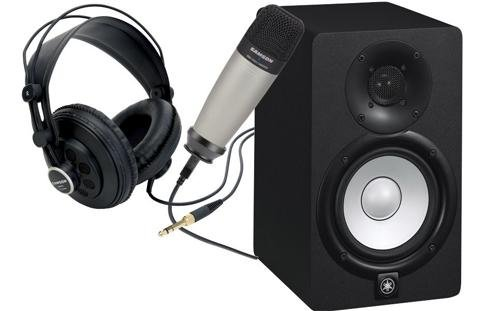 Yamaha Bundle: Hs5 Studio Monitors (Pair) W/Samson Mic & Headphones