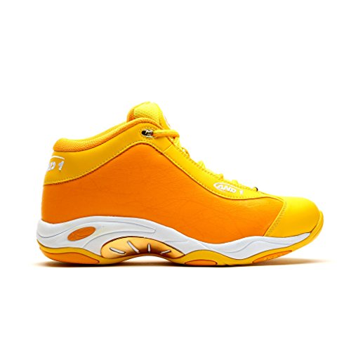 AND1 Mens Tai Chi Baseball Shoe 9.5 Yellow