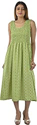 HotShot Women's Cotton Round Neck Dress (RH024, Medium)