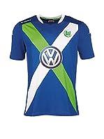 Kappa Camiseta de Fútbol Vfl Wolfsburg 3Rd 2014/2016 (Azul)