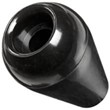 "DimcoGray Black Phenolic Ball Thru Hole Tapered Knob Female, .380/.385 Cored Hole x 5/16 Depth, 1-3/16"" Diameter x 1-3/4"" Height x 9/16 Hub Dia (Pack of 10)"