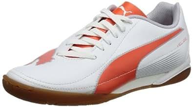 Puma Velize II IT Jr 102989, Unisex-Kinder Hallenschuhe, Weiß (white-cherry tomato-gray dawn 01), EU 37.5 (UK 4.5) (US 5.5)