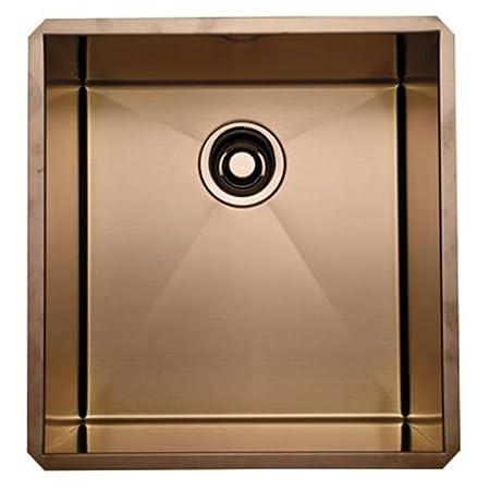 Rohl RSS1718SC 18-Inch Undermount 16-Gauge Kitchen Sink, Stainless Copper