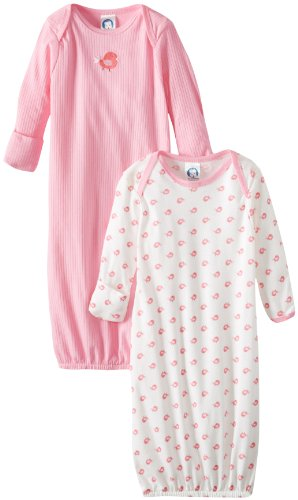 Gerber Baby Girls' 2 Pack Nightgowns