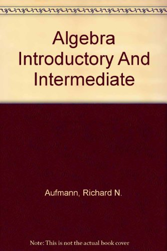 Algebra: Introductory And Intermediate: Text with HM3 CD-ROM