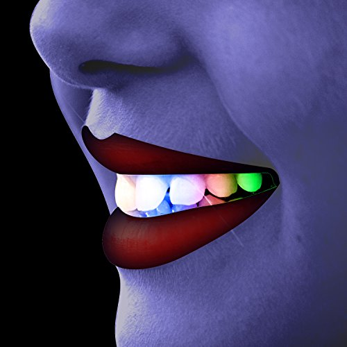 ANPHSIN Silicone Halloween Flash Teeth Braces-Normal Type (Buddy Holly Halloween Costume)