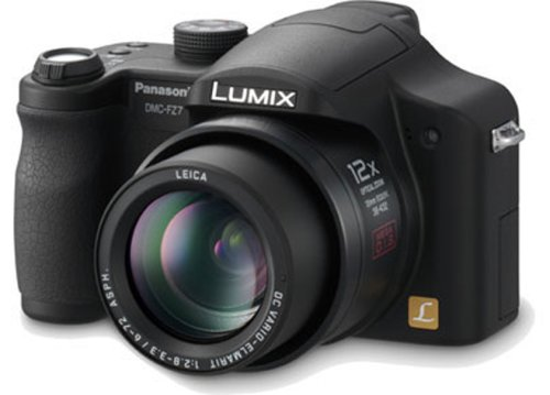 Panasonic DMC-FZ7BB Digital Camera - Black [6MP, 12 X Optical Zoom]