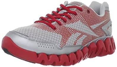 Reebok Men's ZigRhythm Running Shoe,Silver/Excellent Red/Black,7 M US