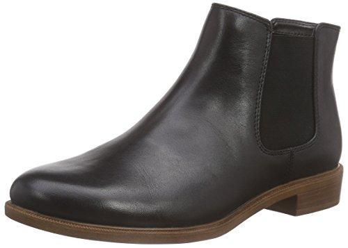 Clarks - Taylor Shine, Stivaletti donna, color Nero (Black Leather), talla 39