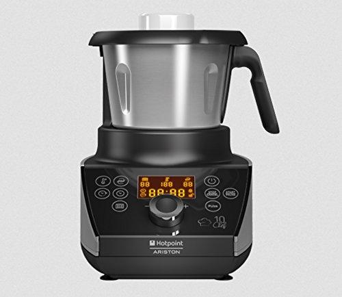 Cooking Machine multi cooker MC 057C AX0 Hotpoint Ariston 10 chef cuoce trita impasta e per ROSOLARE, RISOTTO, LESSARE, BRASARE, PASTA, SALTARE, ZUPPA, VELLUTATA, CREME E PASSATE DI LEGUMI, CREME DOLCI, BASSA TEMPERATURA, SALSE CALDE, SALSE FREDDE, IMPASTO PER TORTE e SVEZZAMENTO.