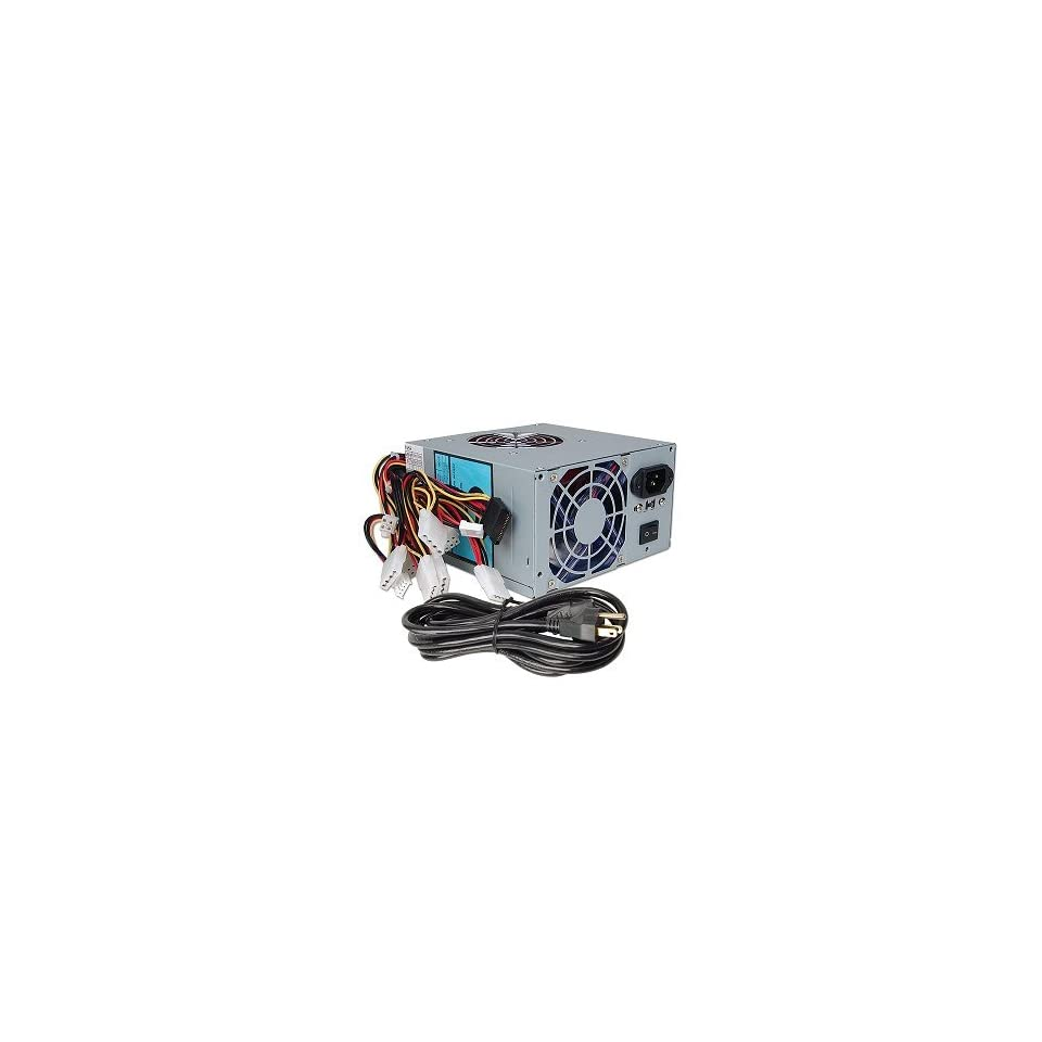 A Power Gamer 480 Watt 20+4 pin Dual Fan ATX Power Supply with SATA