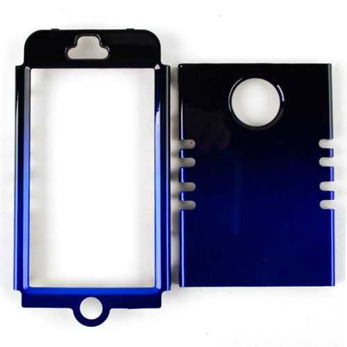 Cell Armor Rocker Snap-On Case for iPhone 5 - Retail Packaging - Two Tones Black and Blue