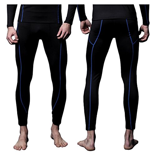 FiteX Mens MAXHEAT Fleece Long Johns Thermal Underwear Bottom Black S (Thermal Sports Underwear compare prices)