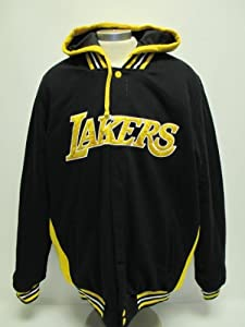 Los Angeles Lakers Reversible Full-Button Jacket w hood