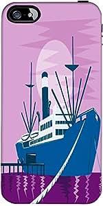 Snoogg Passenger Cargo Ship Docking Designer Protective Back Case Cover Forfo...