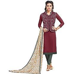 designer wine color koti parytwear salwar suit dress material