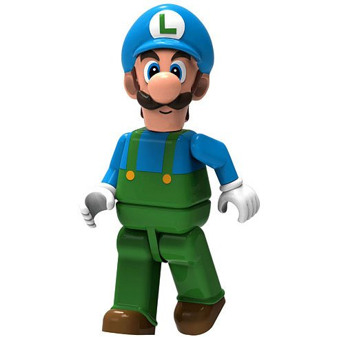 Super Mario Wii K'NEX LOOSE Mini Figure Ice Luigi