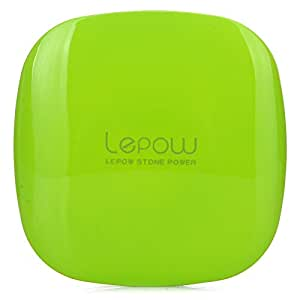 Lepow Moonstone External Battery Pack, Portable Charger & Travel Charger 3,000 mAh -  iPhone 6 Plus, 6,  5, 4, iPad Air, iPad Mini, Samsung Galaxy S6, S5, and other Smart Devices (Apple Green)