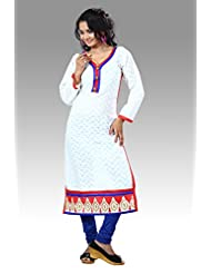 Arista Designer Ready To Wear White Kurti Size - 38 (KR84)