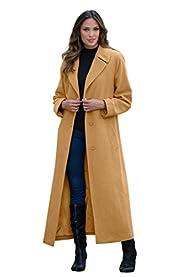 Roamans Women's Plus Size Long Wool C…