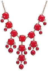 Jane Stone Mini Bubble Necklace Cluster Jewelry Y-Necklace Little Bubble Necklace Small Bubble Fashion Jewelry Bib Statement Jewellery Lovely Necklace(Fn0626)