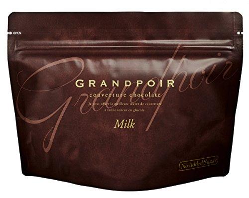 砂糖不使用・糖質カット 高級チョコレート GRANDPOIR(グランポワール) ミルク 1袋55g