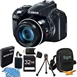 Canon PowerShot SX50 HS 12.1 MP Digital Camera with 50x Wide-Angle Optical Image Stabilized Zoom Super Bundle W/ 32 GB Secure Digital (SDHC) Mem. Card, Dig Pro Case SD USB 2.0 Card Reader, BP 1150