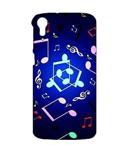 instyler PREMIUM DIGITAL PRINTED 3D BACK COVER FOR HTC 828