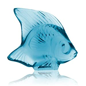 Lalique Fish-Turquoise Crystal