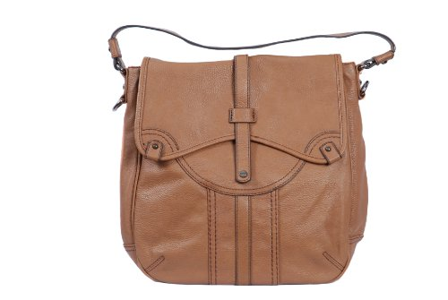 Camel brown hobo bag satchel style large handbag saddle bag from Esprit