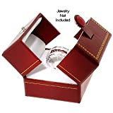 King Ice Classic Cartier Design Leatherette Red Double Doors Ring Gift Box