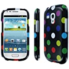 Empire Full Coverage Case for Samsung Galaxy S3 S III Mini I8190 - Black Rainbow Polka Dot