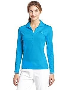 Puma Golf Women's Sport Long Sleeve Polo Tee, Diva Blue, X-Small