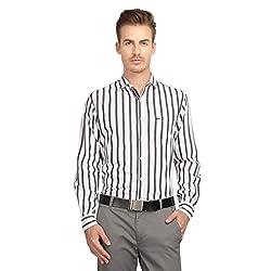 British Line White Color striped Slim Fit Shirt