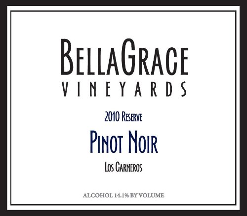 2010 Bellagrace Vineyards Reserve, Sangiacomo Vineyard, Sonoma County Pinot Noir 750 Ml
