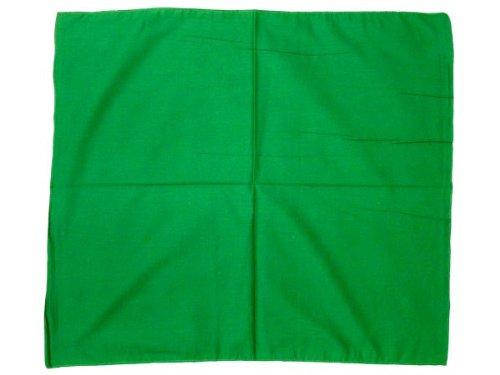 Bandana a tinta unita verde (BA-145) multifunzione classica di colori diversi foulard scialle collo rocker biker motociclista motorcycle pirata accessorio hip hop cappellino cowboy bracciale