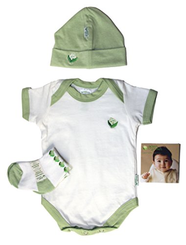 IPlay Green Sprouts Baby Layette 3 Piece Set, Hat, Socks, Overalls, 0-3 Months